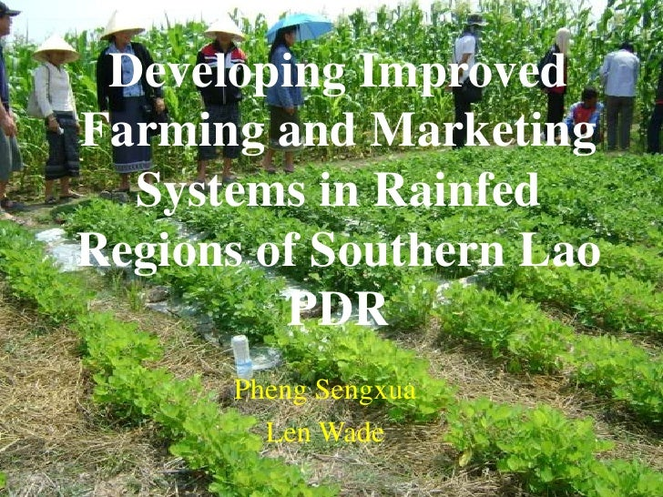Developing ImprovedFarming and Marketing  Systems in RainfedRegions of Southern Lao         PDR      Pheng Sengxua        ...