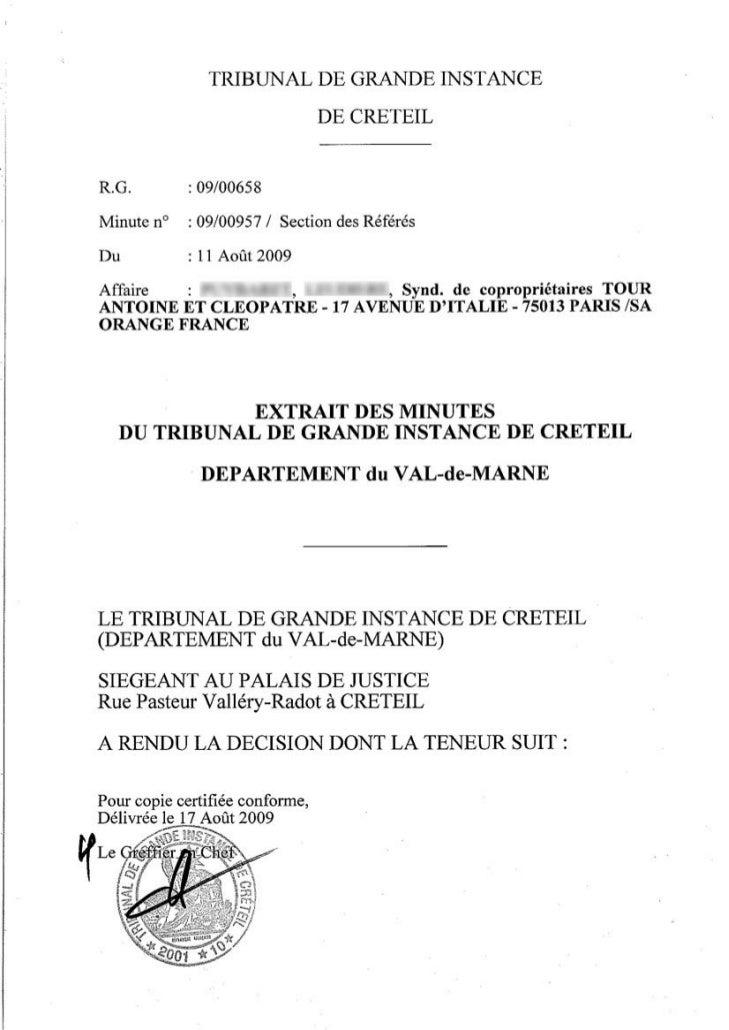 Antennes relais : ordonnance rendue par le juge