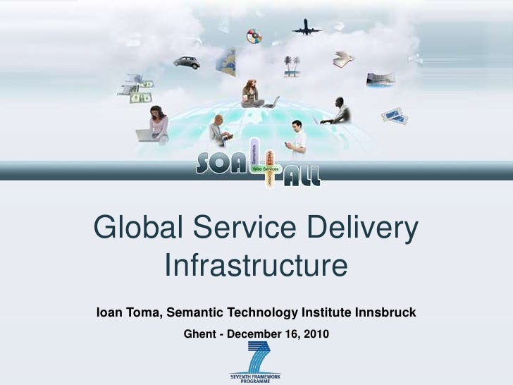 Global Service Delivery Infrastructure IoanToma, Semantic Technology Institute Innsbruck Ghent - December 16, 2010