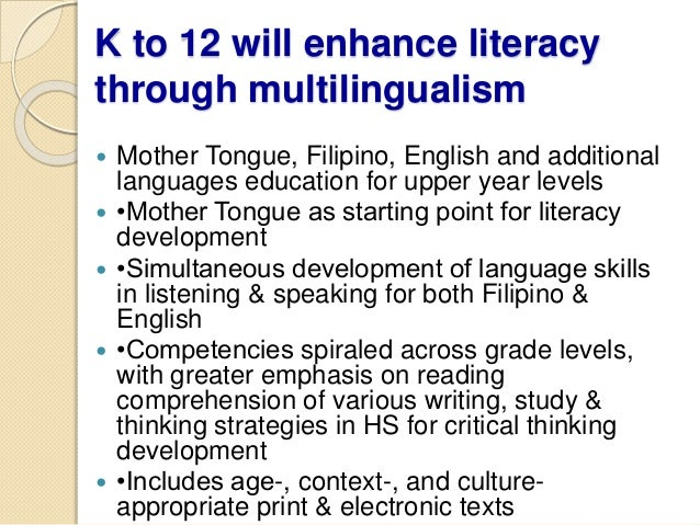 k 12 reaction for basic education program Online courses with traditional students, using control groups in the instructional design the most in-depth, large-scale education, 2) a brief literature review of online learning research and studies, and 3) future research the primary question addressed in most studies is how students enrolled in computer- mediated.