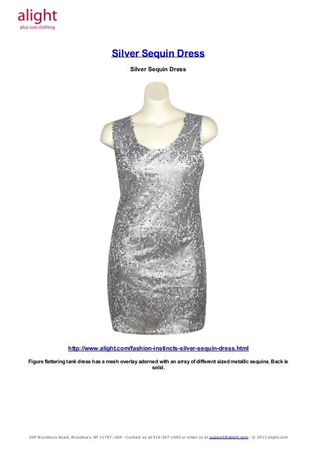 Plus Size Silver Sequin Dress