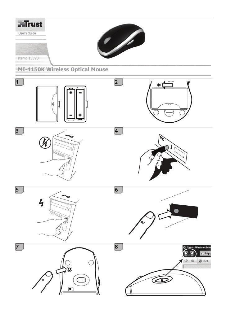 Item: 15393   MI-4150K Wireless Optical Mouse  1                                 2     3                                 4...