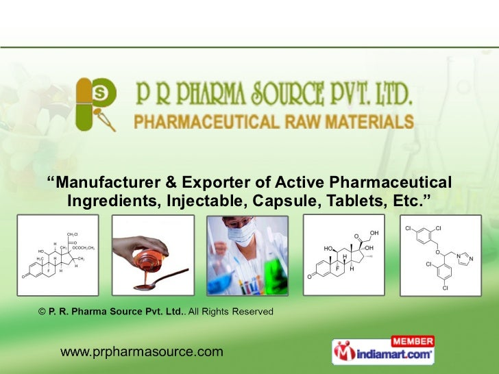 """"""" Manufacturer & Exporter of Active Pharmaceutical Ingredients, Injectable, Capsule, Tablets, Etc."""""""