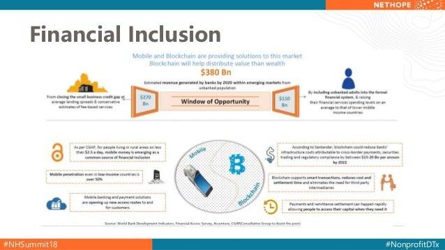 #NHSummit18 #NonprofitDTx Financial Inclusion