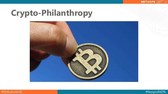 #NHSummit18 #NonprofitDTx Crypto-Philanthropy