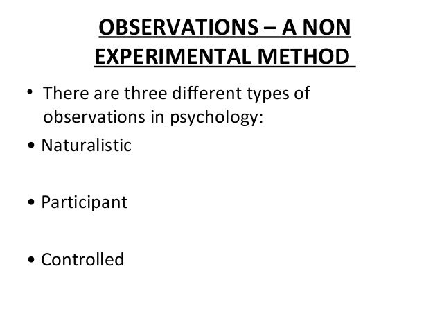 """a non participant naturalistic observation of a public place It is typically divided into naturalistic (or """"nonparticipant"""") observation, and participant observation cases studies and archival research are special types of observational research naturalistic (or nonparticipant) observation has no intervention by a researcher."""