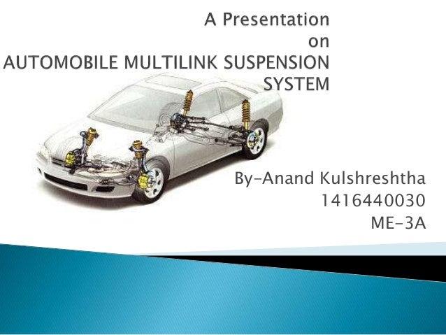 Mutli Link Suspension