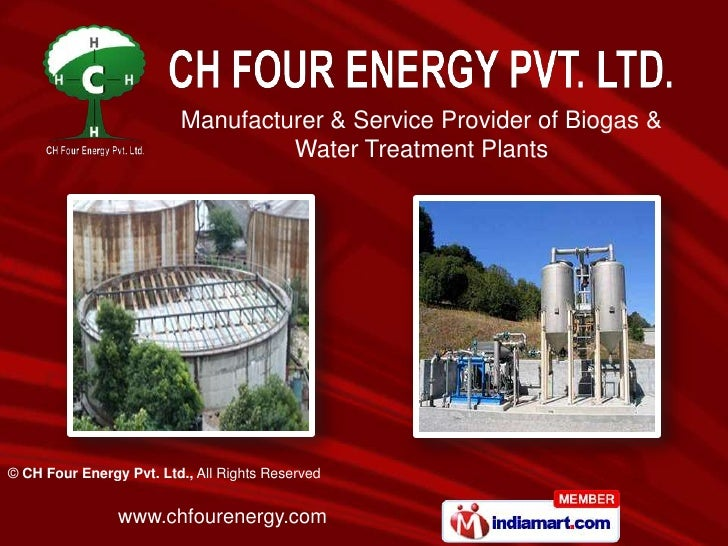 Manufacturer & Service Provider of Biogas & Water Treatment Plants  <br />