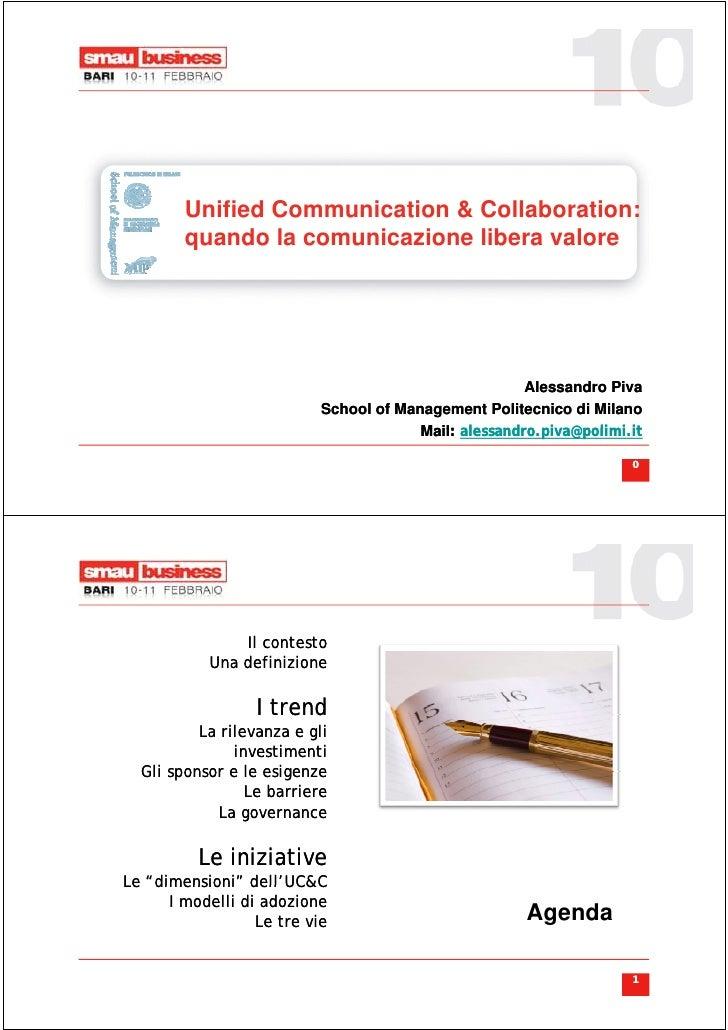 Unified C         U ifi d Communication & Collaboration:                        i ti     C ll b    ti         quando la co...