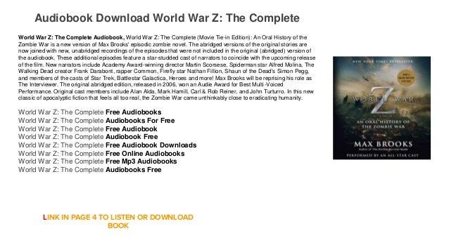 world war z book free download