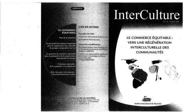 155   le commerce équitable- vers une régénération interculturelle des communautés. f. appfel-marglin, b. amoroso, e....