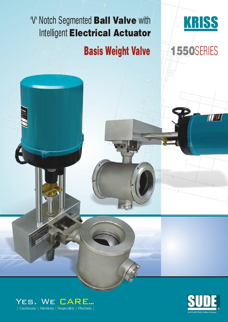 V Notch Segmented Ball Valve with                           KRISS              Intelligent Electrical Actuator            ...