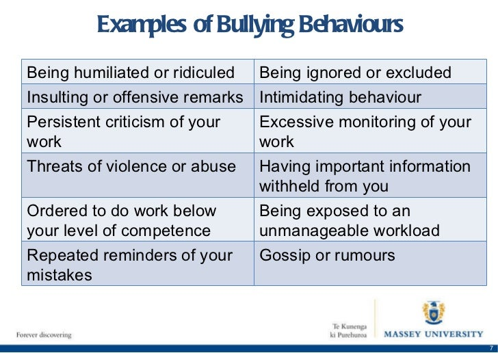 Managing bullying and harassment in the workplace essay