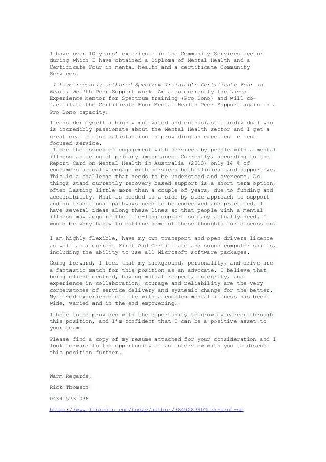 Community Service Cover Letter from image.slidesharecdn.com