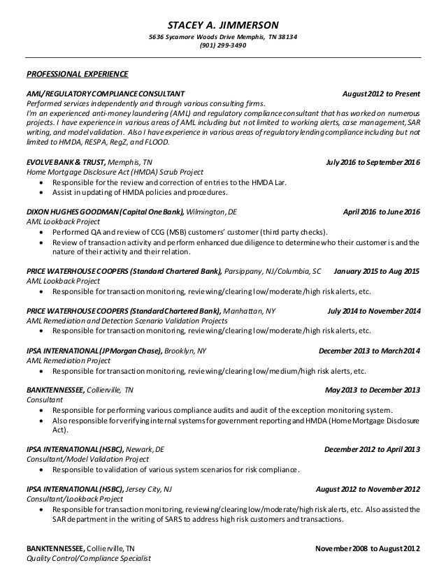 stacey jimmerson consultant resume 12