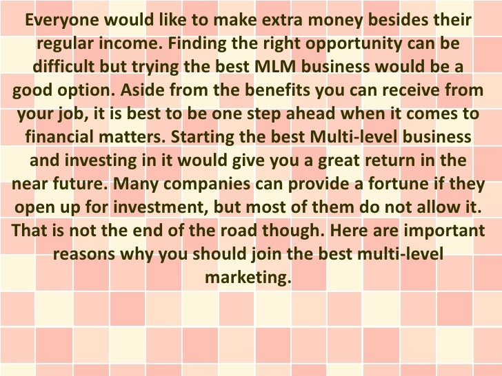 Everyone would like to make extra money besides their    regular income. Finding the right opportunity can be   difficult ...