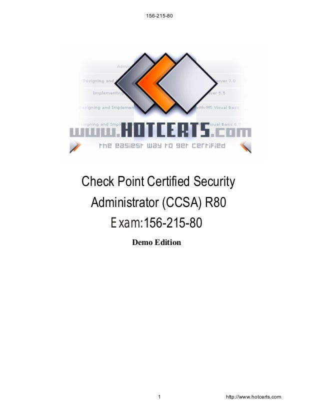 156-215-80 Check Point Certified Security Administrator