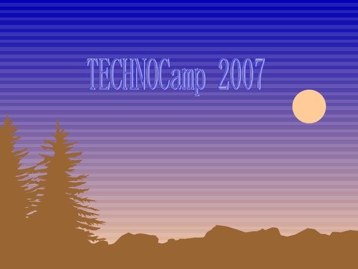 TECHNOCamp 2007