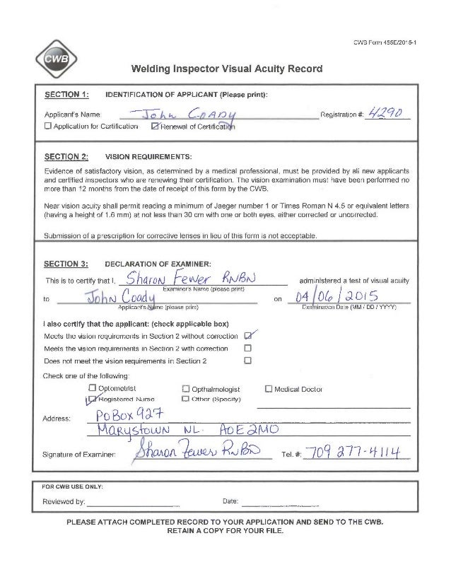 welding certification form - Heart.impulsar.co
