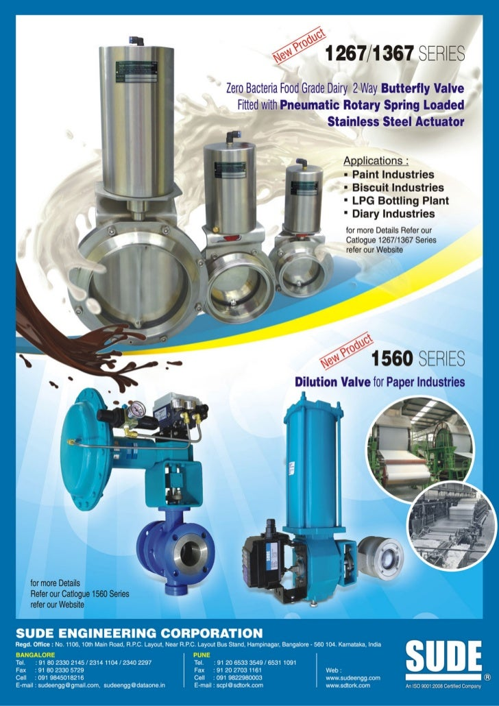 1560 new dilution valve for paper industries