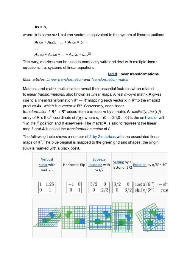 ... then the matrix equation; 34.