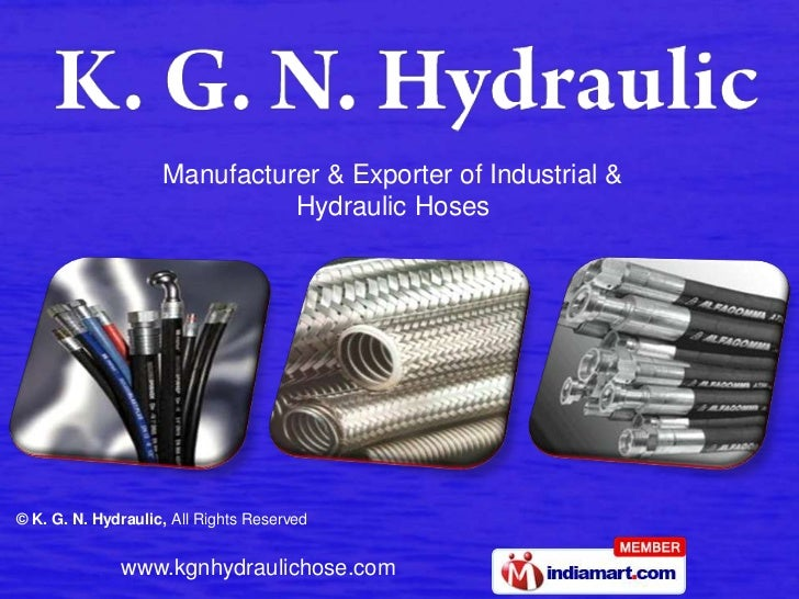 Manufacturer & Exporter of Industrial & Hydraulic Hoses<br />