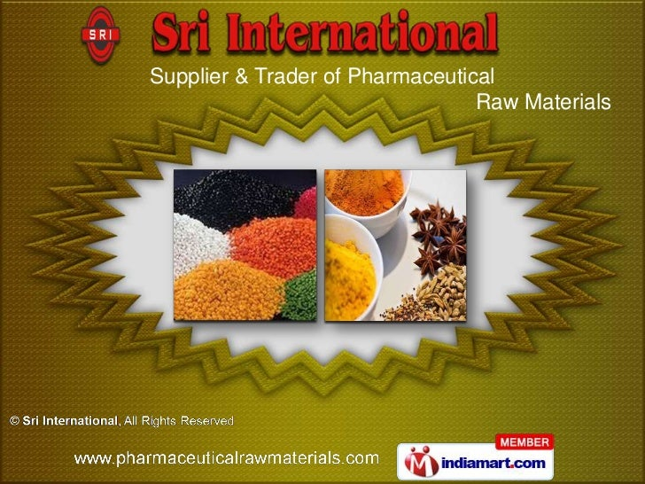 Supplier & Trader of Pharmaceutical                                 Raw Materials