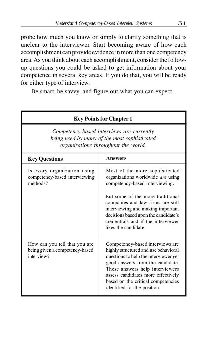 competency based interview 32 32 competency based interviews key questions answers what