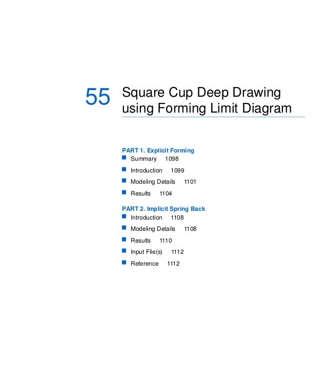 Chapter 55: Square Cup Deep Drawing using Forming Limit Diagram  55  Square Cup Deep Drawing using Forming Limit Diagram P...