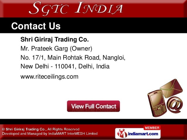 Ceiling & Architectural Products by Shri Giriraj Trading Co., New Delhi