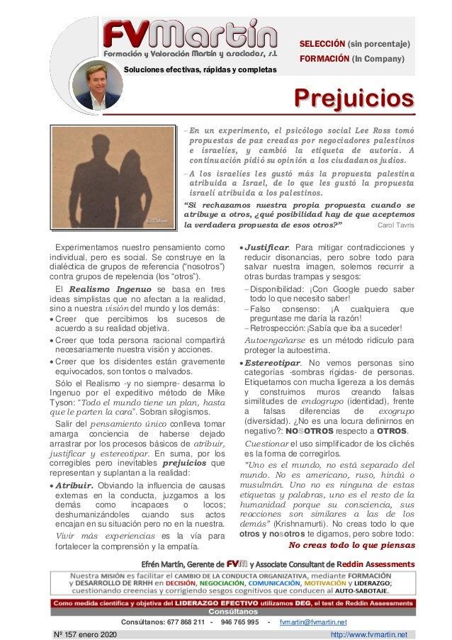 SELECCIÓN (sin porcentaje) FORMACIÓN (In Company) Soluciones efectivas, rápidas y completas PPrreejjuuiicciiooss Efrén Mar...