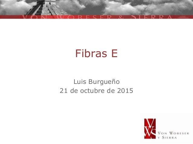 Fibras E Luis Burgueño 21 de octubre de 2015