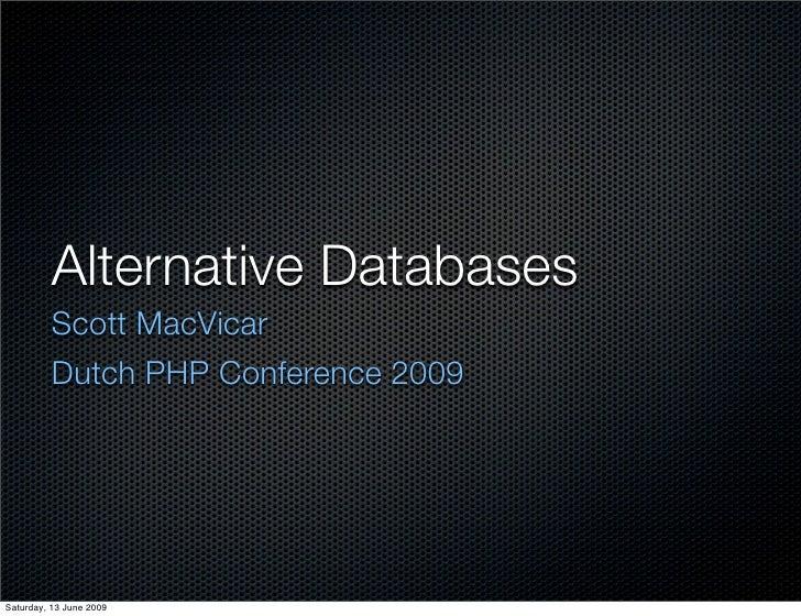 Alternative Databases