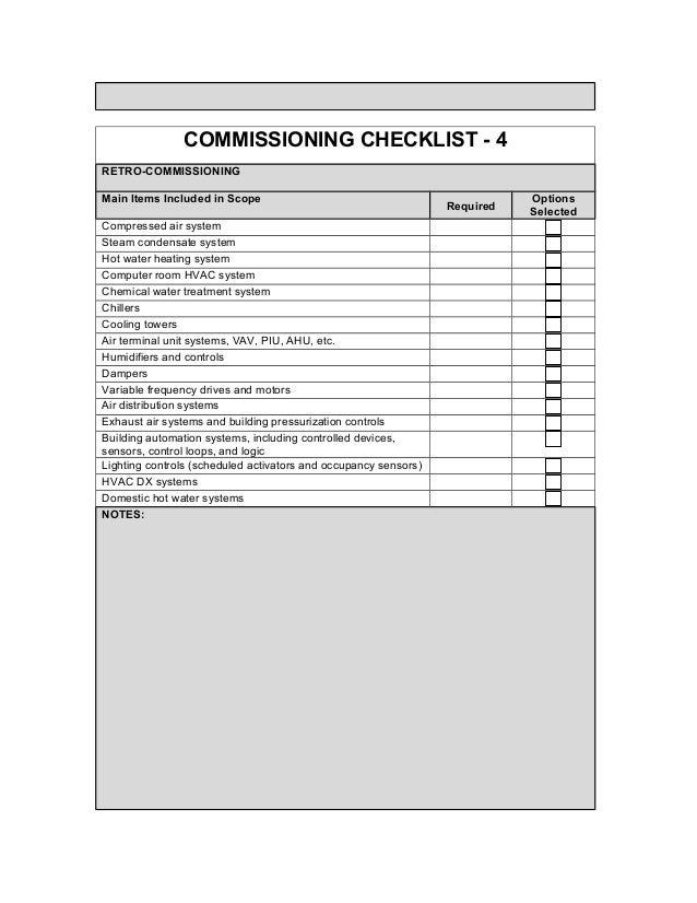 157882189 Commissioning Checklist3 11 10