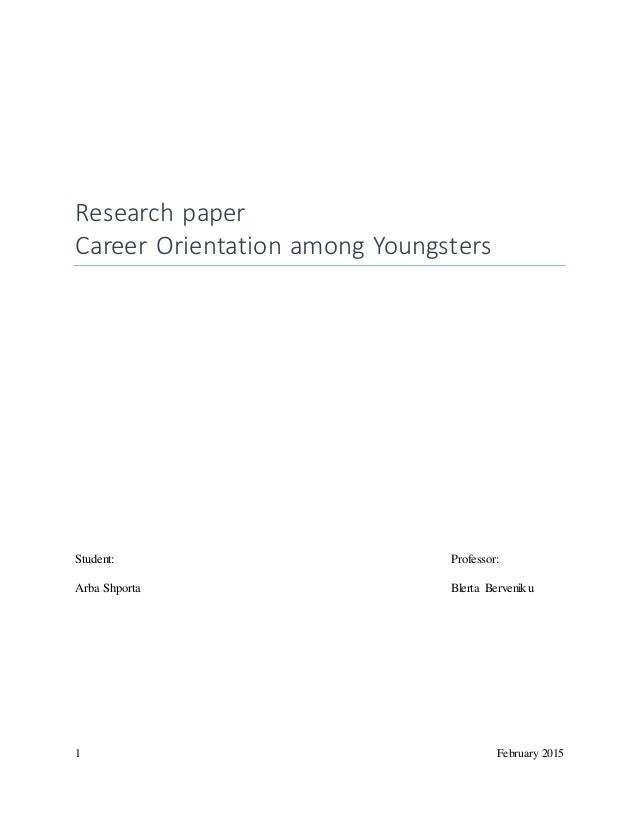 Orientation research paper
