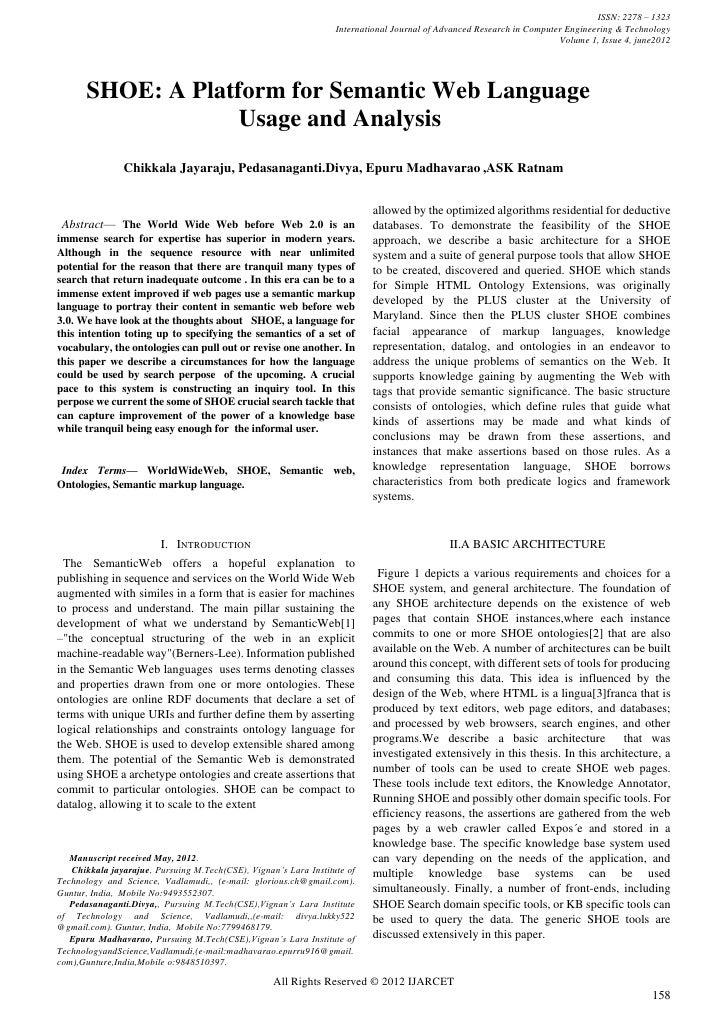 ISSN: 2278 – 1323                                                                  International Journal of Advanced Resea...