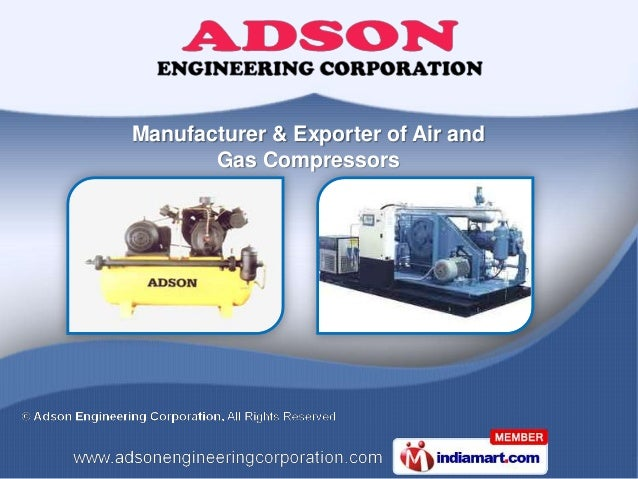 Manufacturer & Exporter of Air and       Gas Compressors