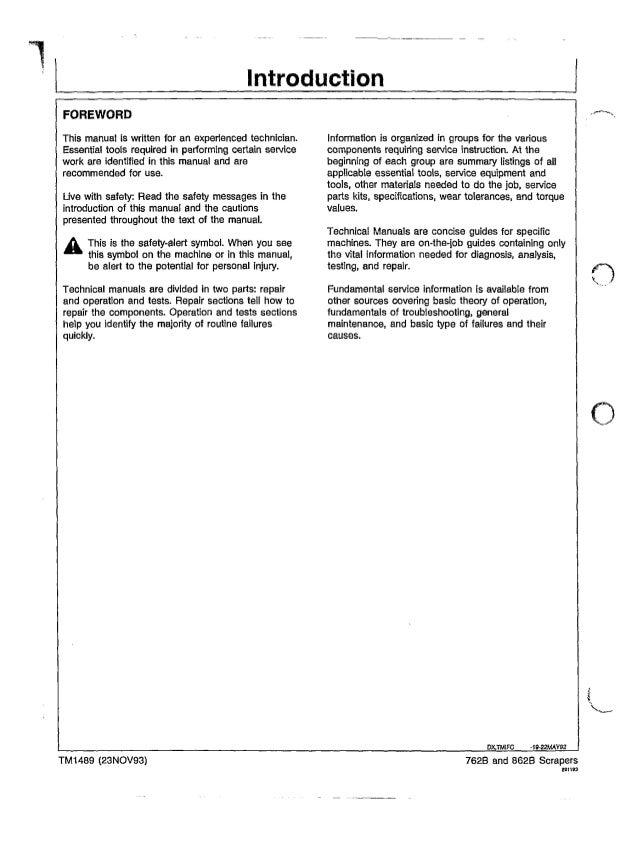 John Deere 862B Manual