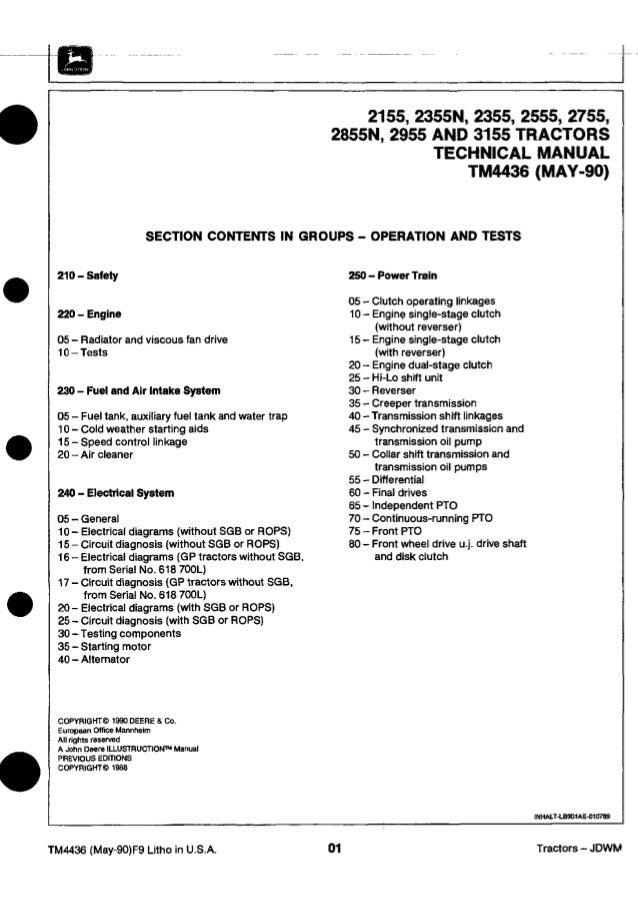 John Deere 2555 ManualSlideShare