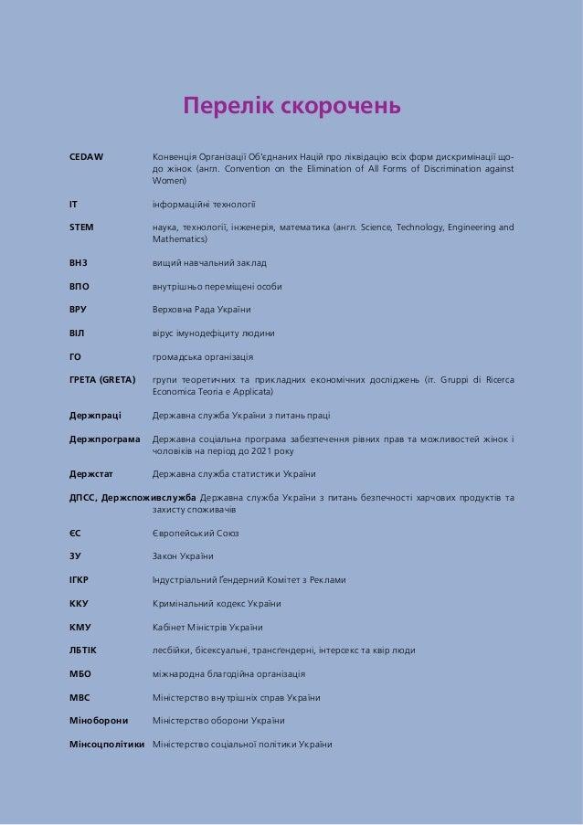 Перелік скорочень CEDAW Конвенція Організації Об'єднаних Націй про ліквідацію всіх форм дискримінації що- до жінок (англ....