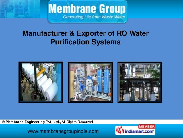 Manufacturer & Exporter of RO Water       Purification Systems