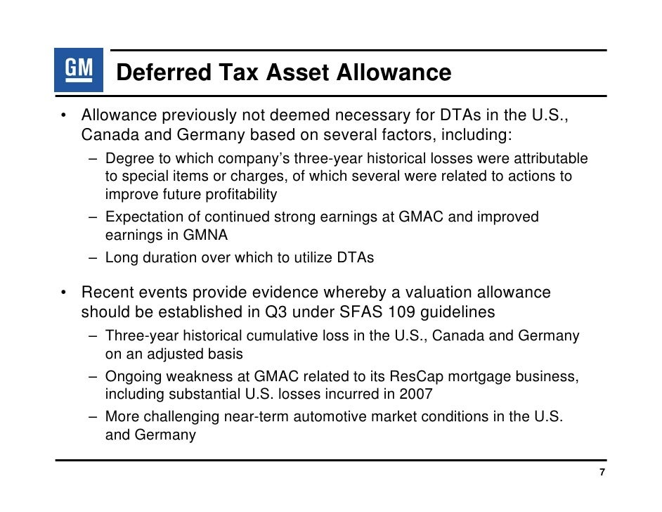 the determinants of the deferred tax allowance account under sfas essay Focusing on the deferred tax asset valuation allowance account (vaa) the vaa   specifically outlines the factors that managers should consider in setting the  vaa, allowing  that accounting for income taxes under sfas no.