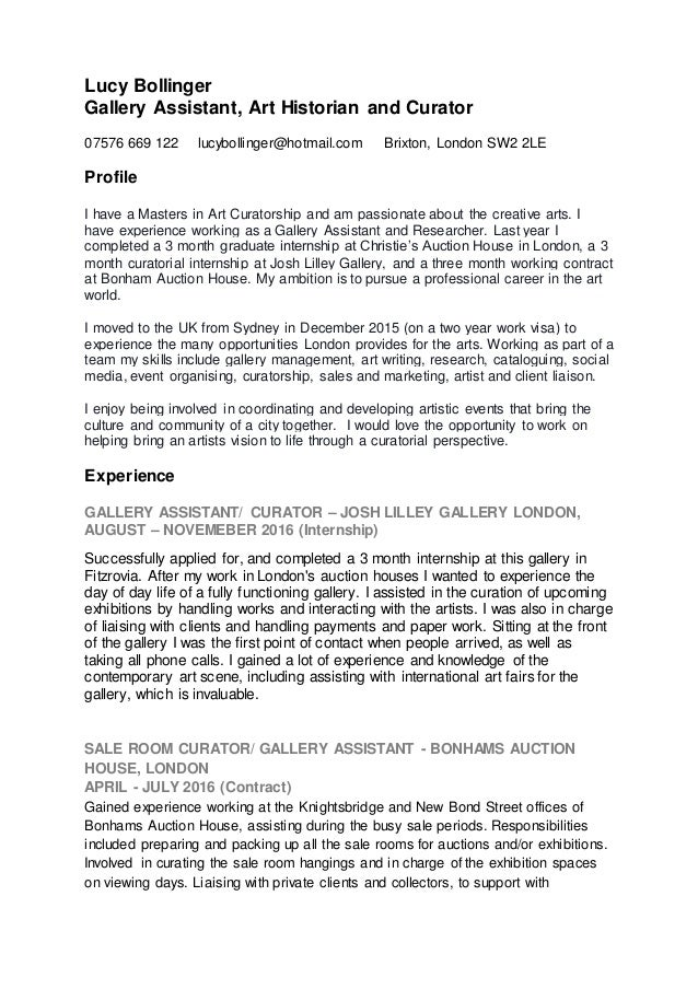 lucy bollinger arts cv 2017