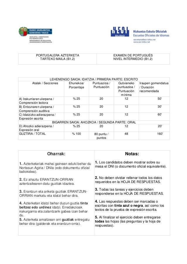 Examen Portugeus