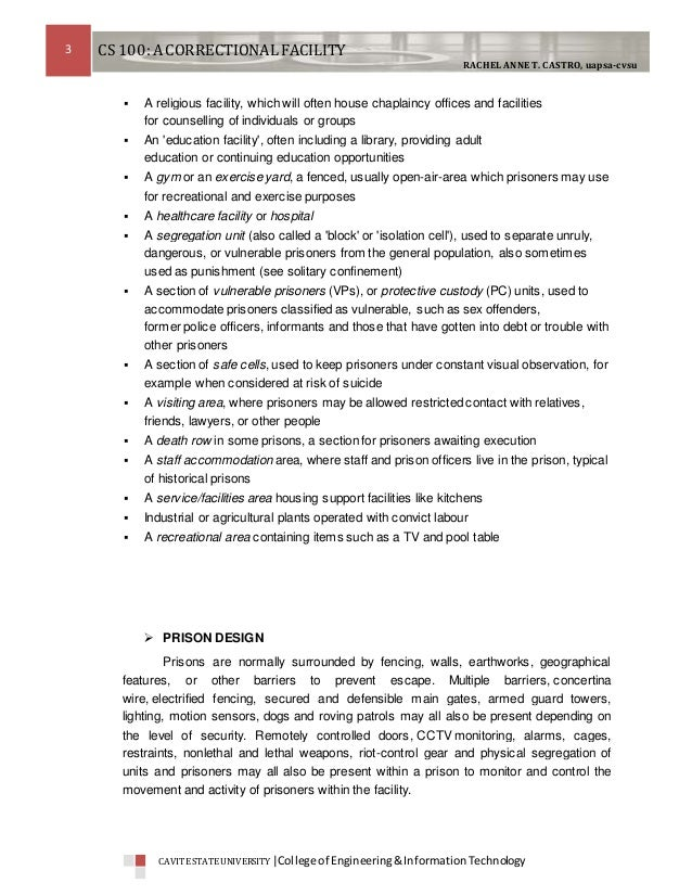 case study in a correctional facility 159280131 correctional-case-study 1 1 cs 100 other terms used are penitentiary, correctional facility, remand centre, detention centre, and jail or gaol.