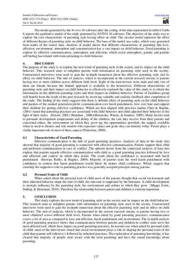 Journal of Education and Practice www.iiste.org ISSN 2222-1735 (Paper) ISSN 2222-288X (Online) Vol.5, No.26, 2014 117 The ...