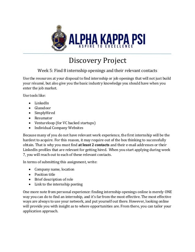 Discovery Project 1