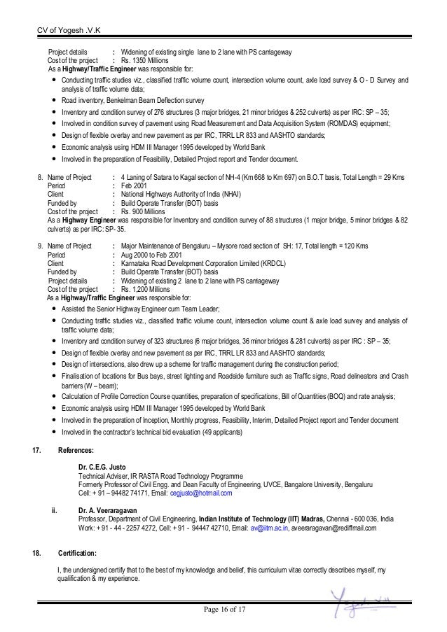CV Of Yogesh Final - Cv about myself section