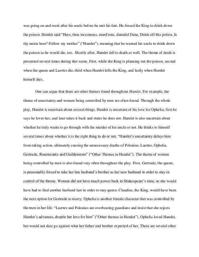 does hamlet love ophelia essays Essays from bookrags provide great ideas for hamlet essays and paper topics like essay view this student essay about hamlet of does hamlet love ophelia.