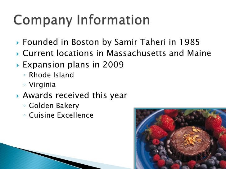 Company Information<br />Founded in Boston by Samir Taheri in 1985<br />Current locations in Massachusetts and Maine<br />...